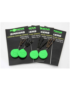 KORDA Sinkers Tungsten Medium Weed Green