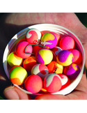 Dynamite Baits Two Tone Fluro's Banana & Krill pop up 15mm