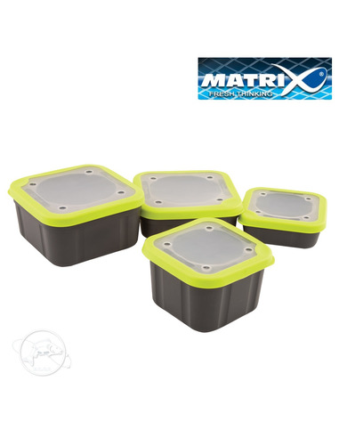 Matrix Grey/Lime Bait Box Solid Top 3,3pt