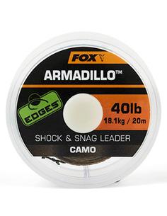 Fox Edges Camo Armadillo Shock & Snag Leader 30lb 13,6kg 20m