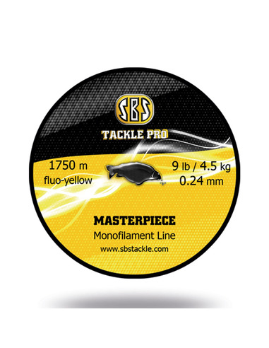 SBS Masterpiece Monofilament Line Black 0.30Mm (15.4LB / 7Kg)