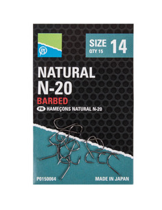 Preston Natural N-20 Barbed Hooks