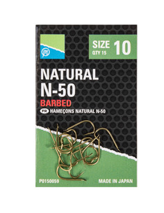 Preston Natural N-50 Barbed Hooks nº 10