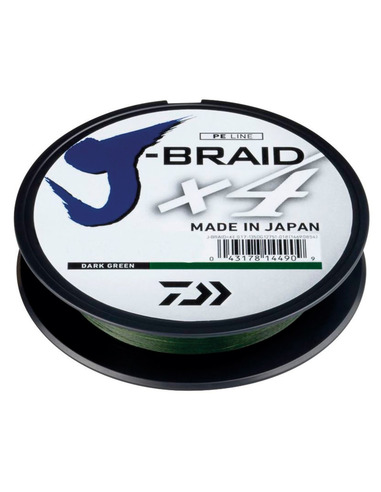 Daiwa J-Braid X4 Dark Green 0,29mm 18,6kg 1350m