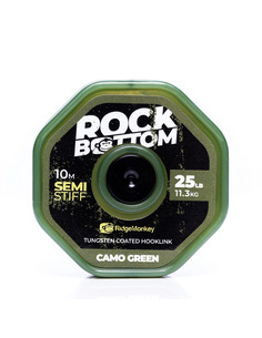 RidgeMonkey RM-Tec Rock Bottom Tungsten Coated Soft Camo Green 25lb
