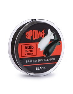 Spomb Braided Shockleader 22kg / 50lb Black