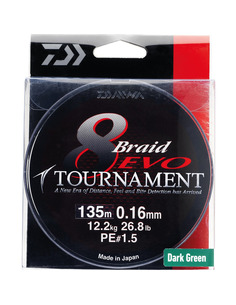 Daiwa Tournament 8 Braid EVO Dark Green
