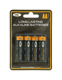 NGT Pack of 4 x AA 1,5v Alkaline Batteries